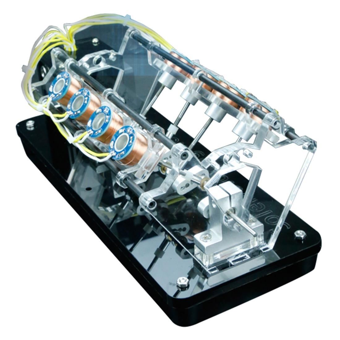 NFSTRIKE 5 v 4 W 8 Bobinas Eletroímã de Alta Velocidade Automóvel Modelo Do Motor Do Motor V-Em Forma de Brinquedos Educativos para Crianças brinquedos para adultos