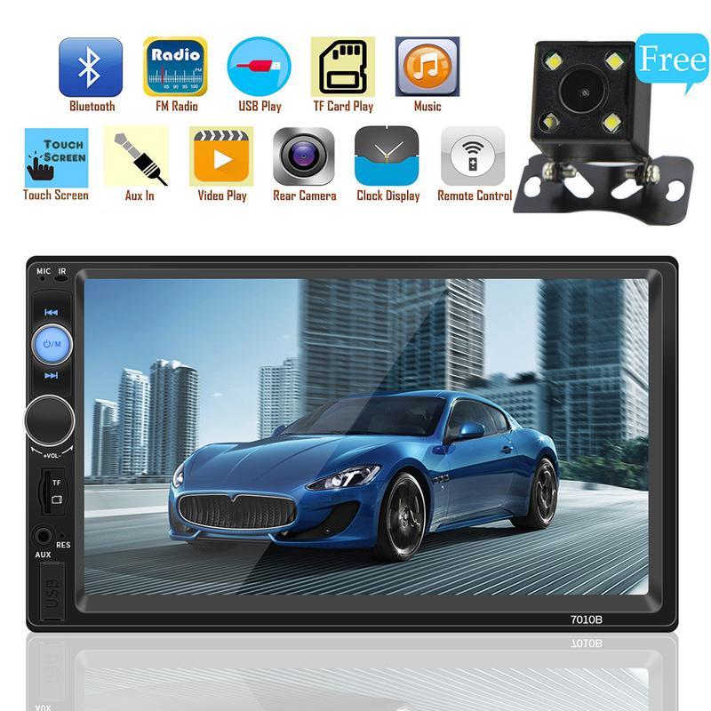 2 din car BT radio 7 HD Player MP5 Touch Screen Digital Display Bluetooth Multimedia USB 2 core Autoradio Car Backup Monitor цена