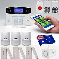 LCD Screen GSM Wireless Home Burglar Alarm System SOS Motion Door Window Sensor Security Alarm