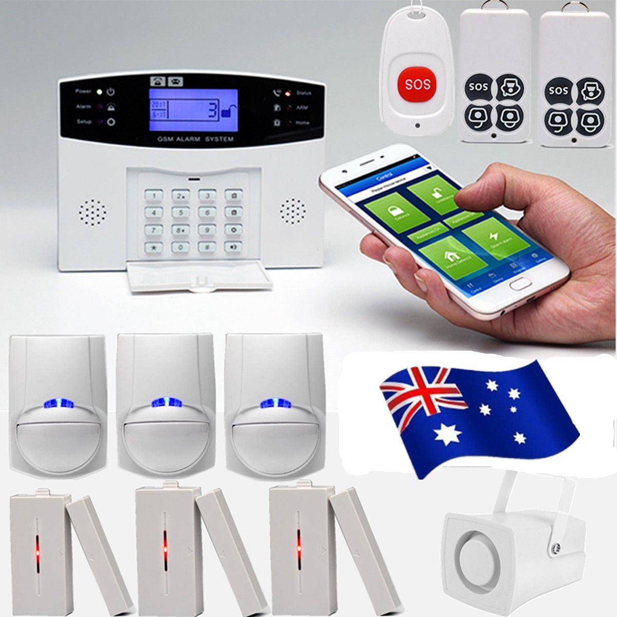 Écran LCD GSM sans fil système d'alarme antivol maison SOS mouvement porte fenêtre capteur alarme de sécurité