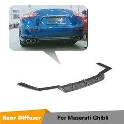 Z tyłu spojler zderzaka dla Maserati Ghibli Base Sedan 4-drzwi 2018 2019 dyfuzor z włókna węglowego spojler Splitter fartuch
