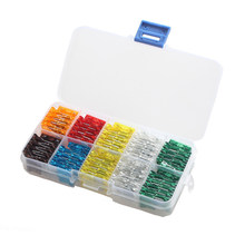 100 x standard profile blade fuse box mixed color assorted 7 size 5 7 5 10  15 20 25 30 amp