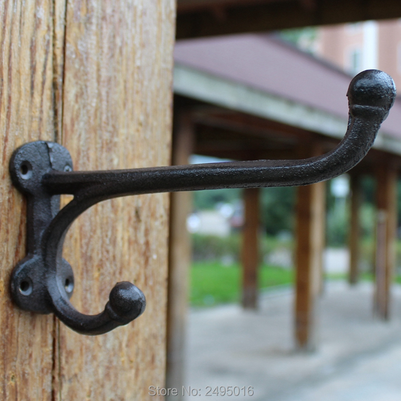 Cast Iron Wall Mounted Hooks Vintage Inspired Perfect for Coats Bags Hats Towels Scarfs in Hooks Rails from Home Garden