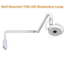Wall Mounted 72W LED Surgical Lamp Examination Light Shadowless Lamp Surgery Dental Department Pet Clinic Lamp Operation Light dental wall anging medical surgical oral lamp shadowless cold light with arm