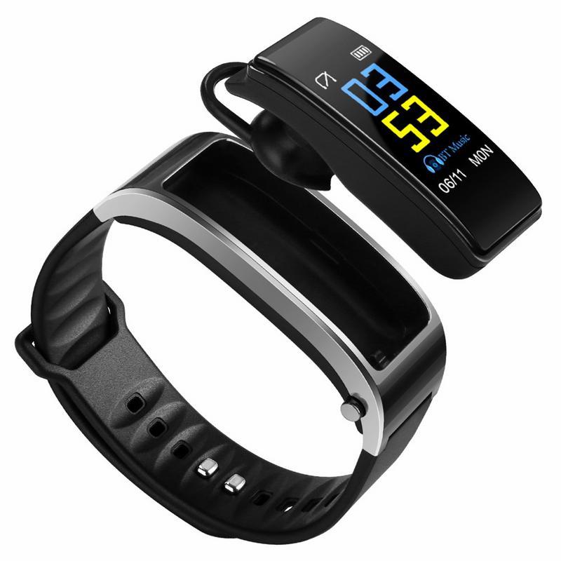 Bluetooth Y3 Cor fone de Ouvido Falar de banda Inteligente Pulseira monitor de freqüência cardíaca Esportes Relógio Passometer Inteligente Rastreador De Fitness Pulseira