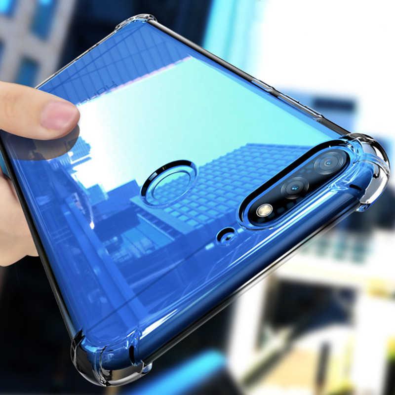 Прозрачный мягкий ТПУ чехол для телефона для huawei P20 P30 Mate20 Pro Lite Nova4 3 3i Honor V20 8A 10 Lite Y9 2019 Противоударная подушка безопасности на заднюю панель