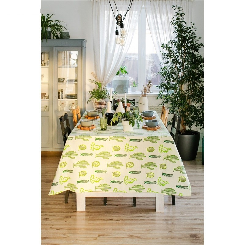 Tablecloth Ethel Cacti, 150 × 180 cm, репс, pl. 130g/m², 100% cotton монитор acer v206hqlab