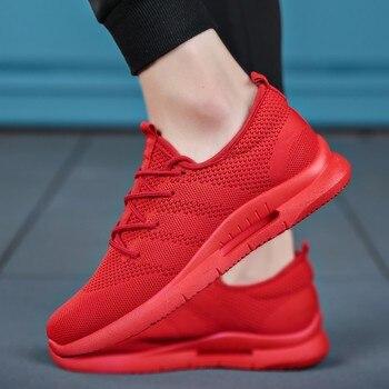 5075b557cea Zapatos casuales de marca para Hombre, Zapatillas de deporte ligeras para  Hombre, malla transpirable, calzado plano de moda para adultos, Zapatillas  para ...