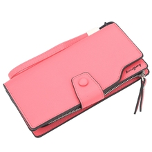 Korean Version Casual Multi-Function Ladies Wallet Long Zipper Buckle Clutch Bag Explosion Mobile Phone