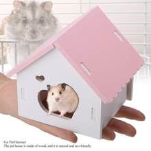 Cute Fashionable Wooden Sleeping House Assembling Hamster for Pet Hamster(China)