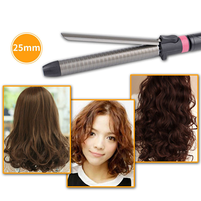 Hair Curler Curling Wand Iron Rotatable Hair Styler Wet&Dry Tongs Curly Hair Styling Tools Temperature Adust 25Mm(Us Plug)Hair Curler Curling Wand Iron Rotatable Hair Styler Wet&Dry Tongs Curly Hair Styling Tools Temperature Adust 25Mm(Us Plug)