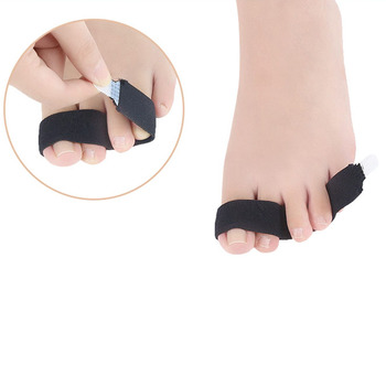 El separador de alta calidad de poliéster Spandex dedo soporte de férula del dedo del pie envuelve férula secreto separador roto martillo herido
