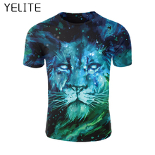 YELITE Galaxy Animals Mens T Shirt Tshirts 2019 Newest Streetwear 3D T-Shirt Men Summer Tops Printed Short sleeved Space Star