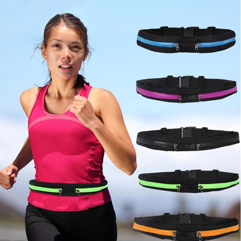 Running Jogging Waist Bags Pocket Adjustable Outdoor Waterproof Sports Bag Phone Money Anti-theft Pack Belt Cycling Zip Pouch