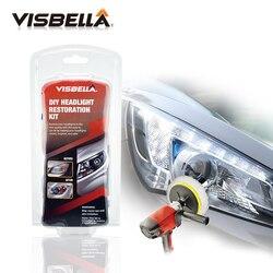 VISBELLA الأمامي استعادة عدة البولندية كشافات منير لتقوم بها بنفسك للعدسات مصباح رأس السيارة العميق نظيفة رئيس ضوء لصق أفضل واحد