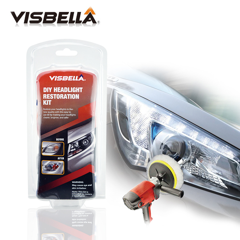VISBELLA Headlamp Brightener Kit DIY Headlight Restoration for Car Head Lamp Lenses Deep Clean Head Light Polish Paste Best One