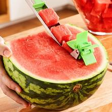 Watermelon Slicer Cutter Windmill Shape Stainless Steel Melon Fruit Knife Tongs Kitchen Gadgets