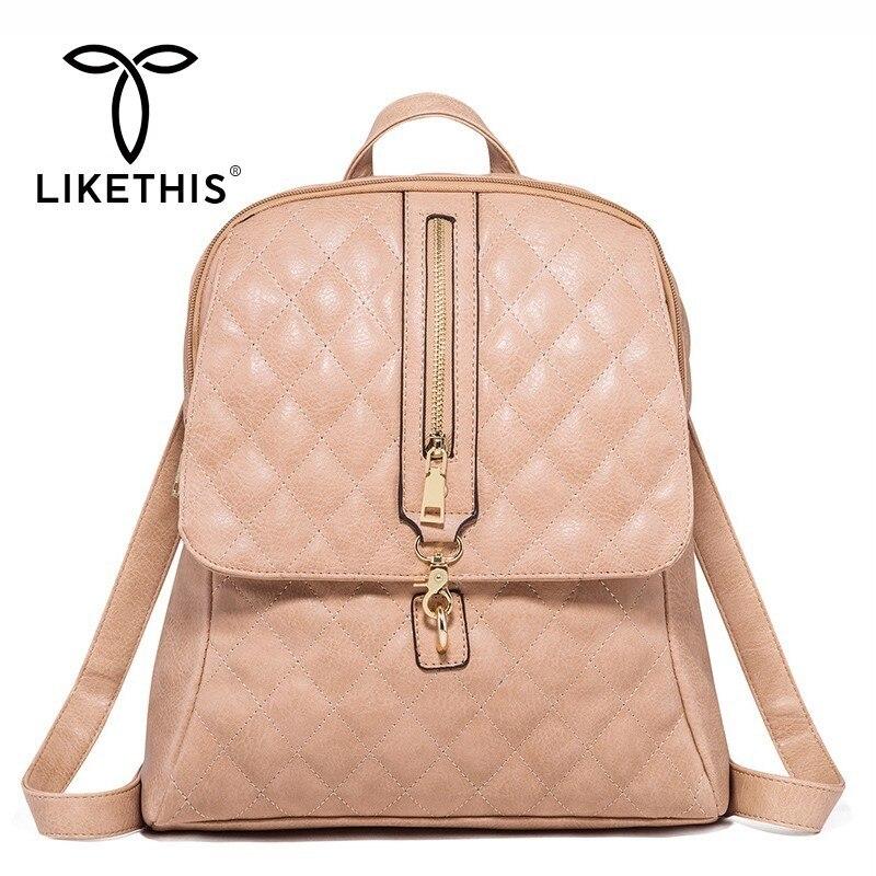 Sac à dos d'école pour femme sac à dos pour fille sac à dos de voyage solide grande capacité sac à dos en cuir Mochila Feminina Plecak