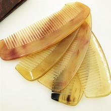 Антистатическая портативная Расческа с натуральным рогом для разглаживания волос предотвращает выпадение волос для женщин