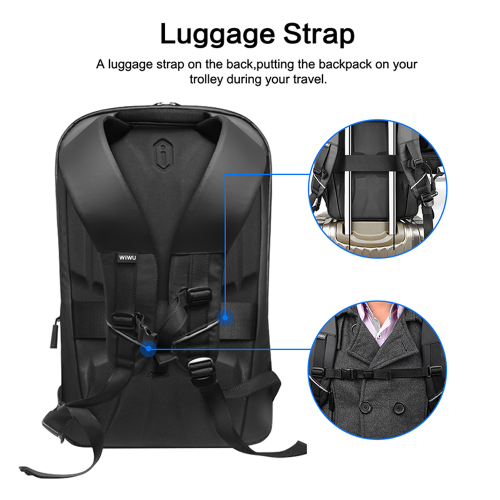 Image 2 - WIWU Laptop Backpack 15.6 15.4 inch Multi function USB Charging Causal Waterproof Backpacks Large Capacity Laptop Backpack Women-in Laptop Bags & Cases from Computer & Office