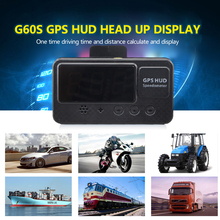 12V 24V C60S Universal Car Hud GPS Speedometer Digital Head Up Display With Over Speed Alarm MPH KM/H New Car Accessories все цены