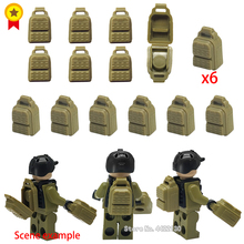Купить с кэшбэком ww2 battlefield Special police army PUBG dedicated Building Blocks supply backpack DIY military Figures with legoINGlys lepin