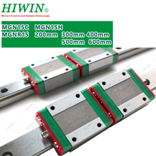 HIWIN MGN15 15mm mini Linear Guide Rail 200mm 300mm 350mm 400mm 500mm 600mm with  MGN15C MGN15H block carriage for  CNC parts