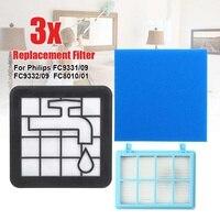 Kit de Motor Filtro de Espuma lavável Para PhilipsFC9331/09 FC9332/09 FC8010/01 Vácuo Peças Mais Limpas|Peças p/ aspirador de pó| |  -