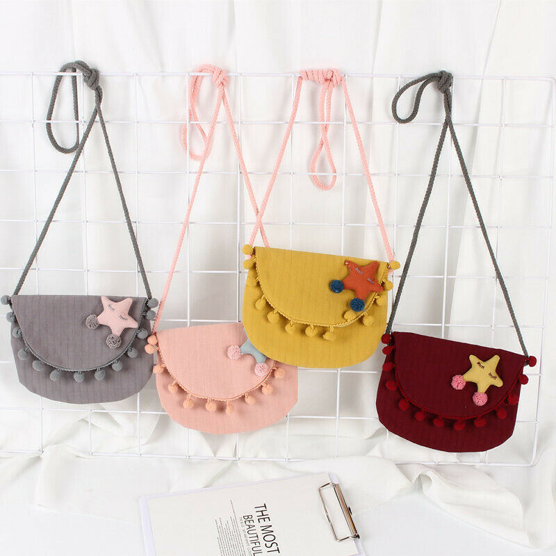 Buy Cheap Lovely Cotton Wallet Kids Girls Gift Cartoon Bag Keys Pouch Mini Coin Purse Star Tassel Ball Bags
