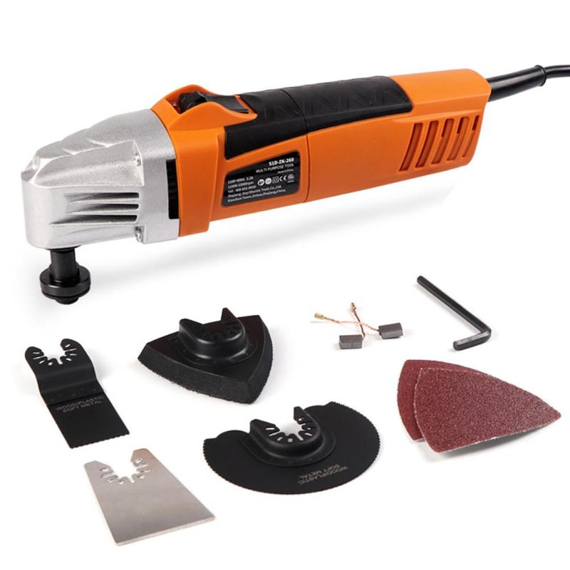 Multi function Oscillating Tool Kit Renovator Electric Woodworking Trimmer