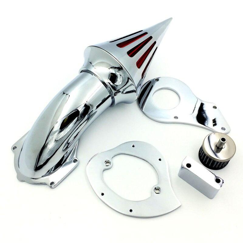 Chrome Spike Air Cleaner Intake Filter Kit For Honda Shadow 600 VLX600 VT600C 99+