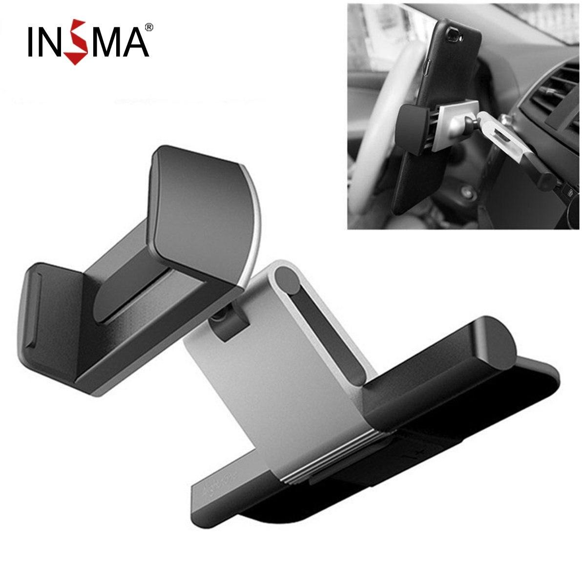 INSMA Aluminum Car CD Slot Mount Cradle Holder Universal Mobile Phone Stand Holder Bracket for iPhone for Samsung GPS Car Holder