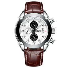 CIVO Watch Men Fashion Casual Quartz For Mens Wrist Business Waterproof Date Calendar Chronograph Brown Classic Sports Watches все цены
