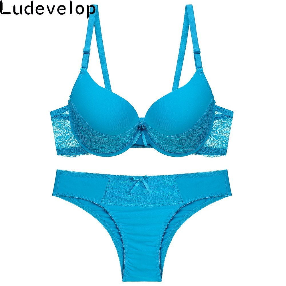 2e04cd380c47 Cheap Reunir sujetadores ropa interior de las mujeres conjunto de algodón  sujetador V profunda Push Up