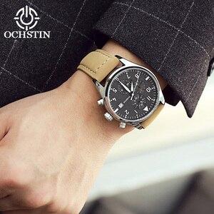 Image 5 - OCHSTIN nowe zegarki sportowe moda męska w stylu Casual markowa chronograf luksusowa wodoodporna świetlista skóra pasek zegar kwarcowy zegarek na rękę