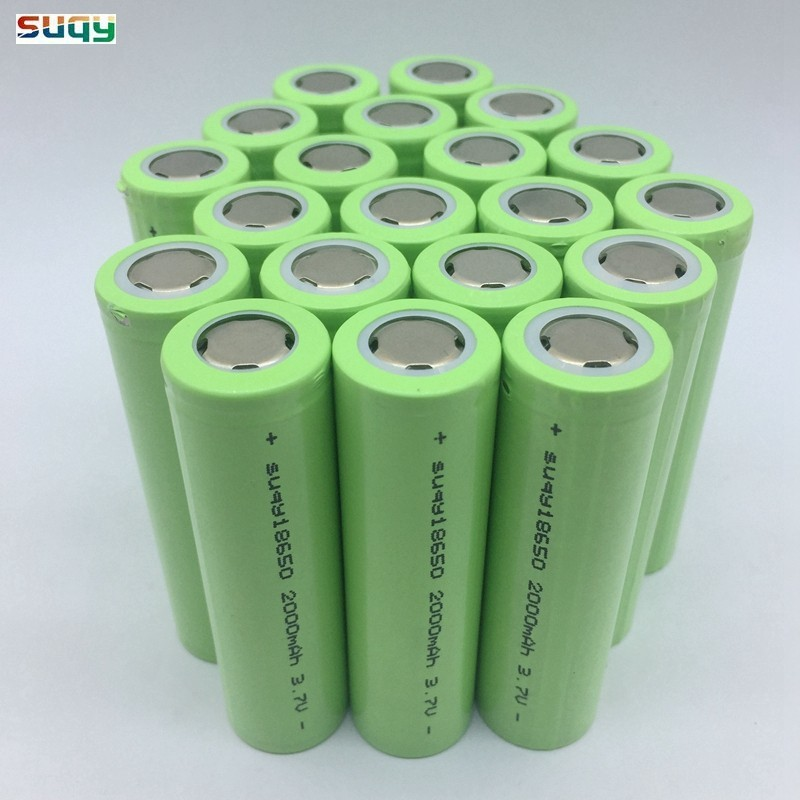 Suqy 100% 18650 2000mah 3.7v 18650 Batterie Li Ion Batteries rechargeables 18650 Batterie Rechargeable Avec Chargeur