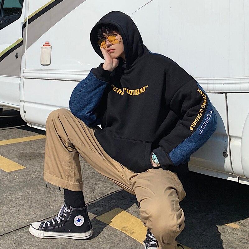 Winter Nieuwe Hoodies Mannen Warme Dikke Katoenen Mode Hooded Sweater Man Hip Hop Streetwear Lange Mouw Trui Mannelijke Kleren - 4