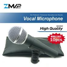 10 adet/grup yüksek kalite SM58LC profesyonel dinamik kablolu mikrofon kardioid 58LC için Mic performans canlı vokal sahne Karaoke