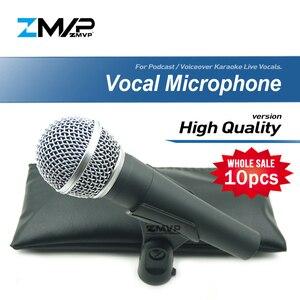 Image 1 - 10 adet/grup yüksek kalite SM58LC profesyonel dinamik kablolu mikrofon kardioid 58LC için Mic performans canlı vokal sahne Karaoke