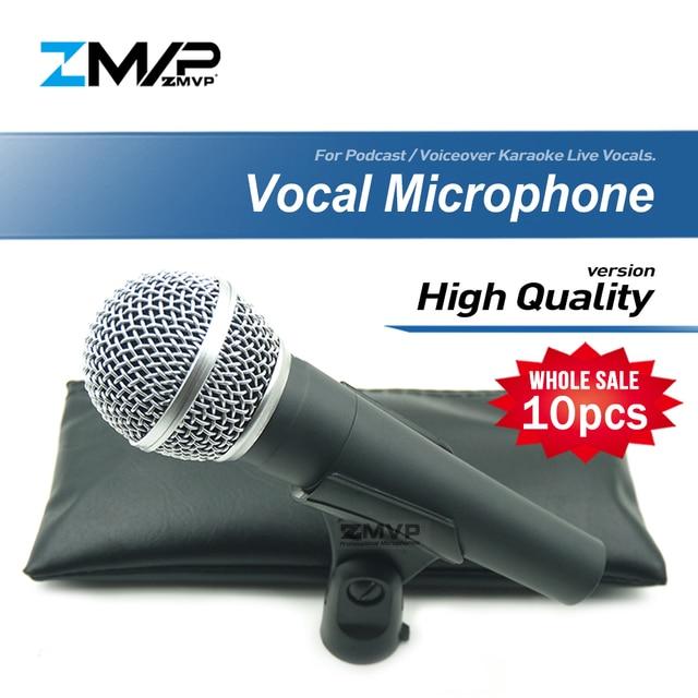 10 sztuk/partii wysokiej jakości SM58LC profesjonalny dynamiczny przewodowy mikrofon kardioidalny 58LC Mic dla wydajności na żywo wokal etap Karaoke