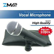 10pcs/Lots High Quality SM58LC Professional Dynamic Wired Microphone Cardioid 58LC Mic For Performance Live Vocals Stage Karaoke