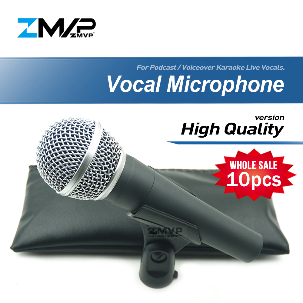 10pcs/lots High Quality Version 58LC Wired Microphone Live Vocals Karaoke Handheld Dynamic 58LC Microfone Microfono Mike Mic