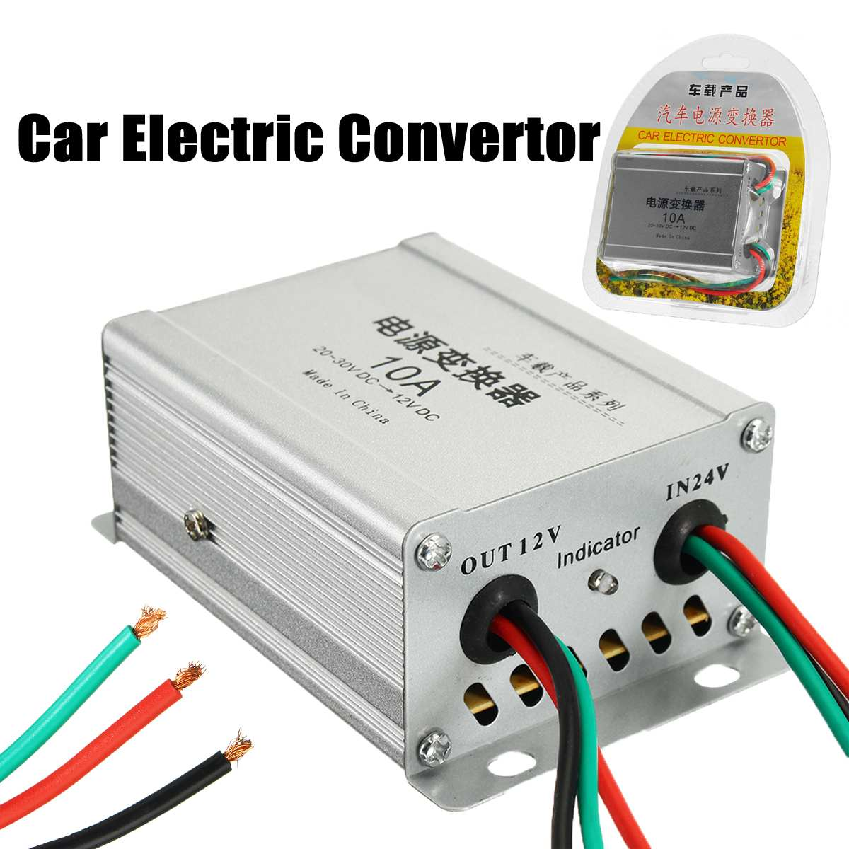 New DC 24 To 12V 10A 120w Car Electric Convertor Power Supply Inverter Transformer Car Inverters