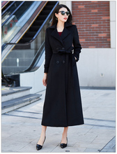 2018 Autumn/winter New Women's Casual Wool Blend Trench Coat Oversize Cashmere Coats Cardigan Long Coat With Belt