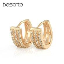 Золотые серьги кольца для женщин boucle d'oreille femmes