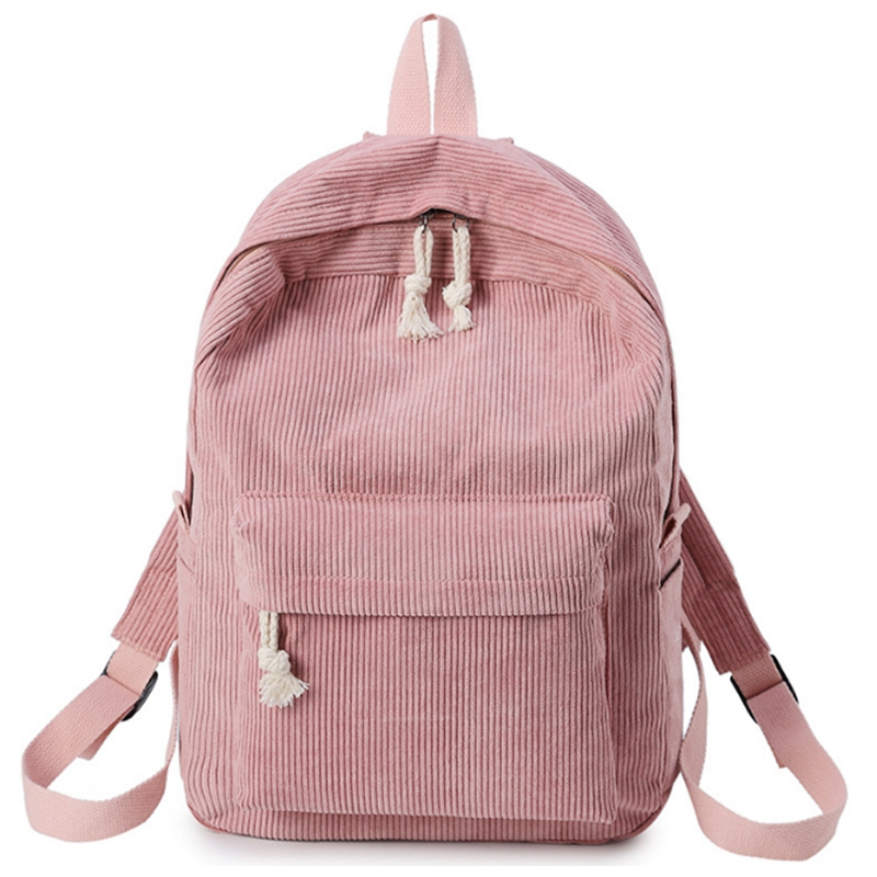 Backpacks Women Corduroy backpack Softback Solid Bag Fashion Soft Handle rucksack School Bag for girlsBackpacks Women Corduroy backpack Softback Solid Bag Fashion Soft Handle rucksack School Bag for girls