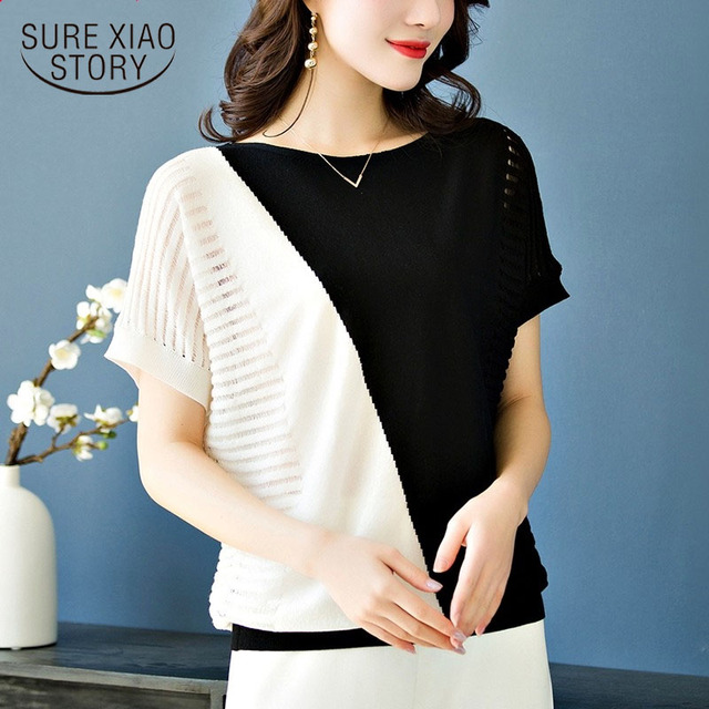 Women shirts 2019 ladies tops korean fashion clothing white shirt Hollow Out shirts women blouses tops Batwing Sleeve 3532 50