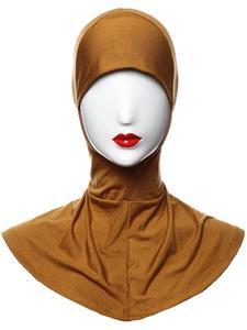 Image 5 - Gorro de hueso musulmán para mujer, hiyab islámico, para debajo de la bufanda, cubierta para el cuello, ropa interior para la cabeza, hiyab, liso