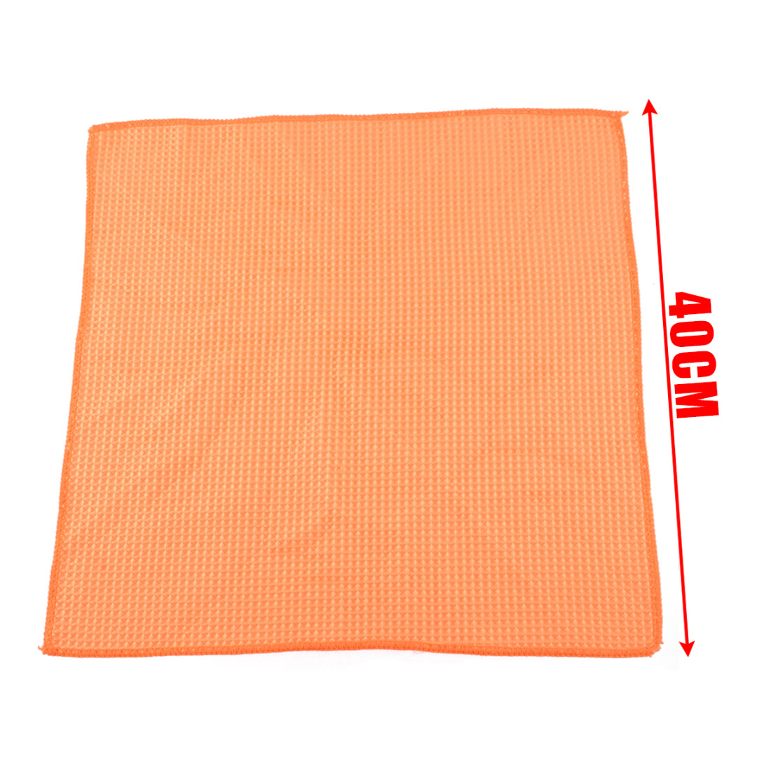 Image 3 - Microfiber Waffle Pattern Towel Soft Car Cleaning Wash Dry Polishing Detail Cloth For Car Home Kitchen Window-in Sponges, Cloths & Brushes from Automobiles & Motorcycles