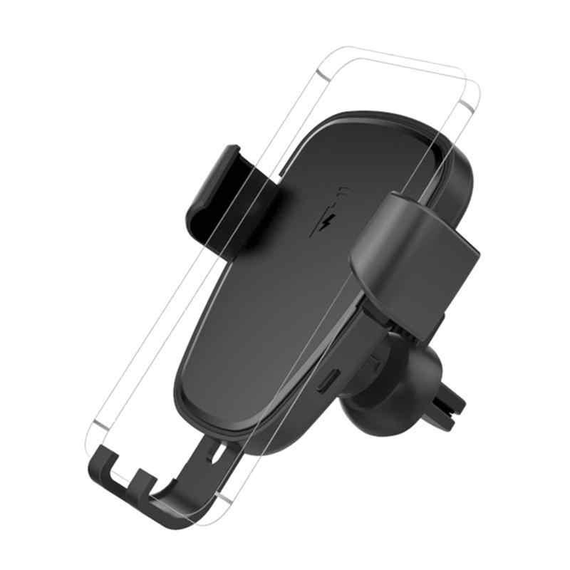 تشى 10W شاحن لاسلكي سريع سيارة حامل حامل سطح العمل ABS غير زلة شحن لالروبوت فون 6/7/X التوصيل هاتف ذكي